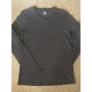 スリードッツ(three dots)のTHREE DOTS Vネック カットソー ブラック(Tシャツ/カットソー(七分/長袖))