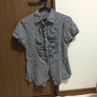 ジーユー(GU)のgu ギンガムチェックブラウス(シャツ/ブラウス(半袖/袖なし))