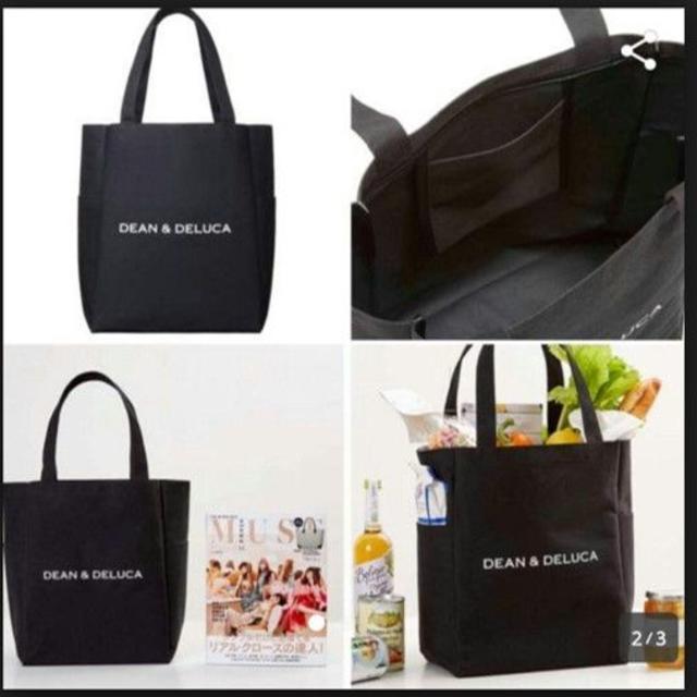 DEAN & DELUCA(ディーンアンドデルーカ)の【新品】DEAN&DELUCAバッグ(黒) メンズのバッグ(トートバッグ)の商品写真
