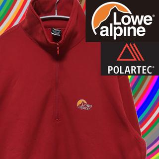 ロウアルパイン(Lowe Alpine)のLowe alpine ストレッチフリース 赤 ポーラテック ハーフジップ(登山用品)