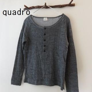 クアドロ(QUADRO)のquadro クオドロ ウール クールネック カットソー(カットソー(長袖/七分))