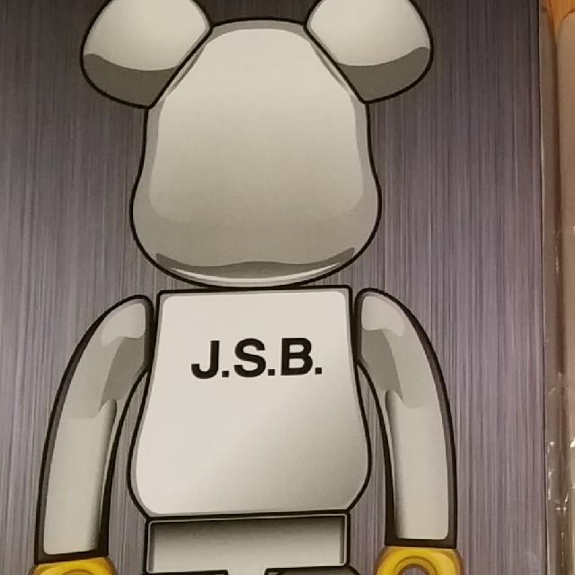 三代目 J Soul Brothers(サンダイメジェイソウルブラザーズ)のJSB ベアブリック 400% エンタメ/ホビーのタレントグッズ(ミュージシャン)の商品写真