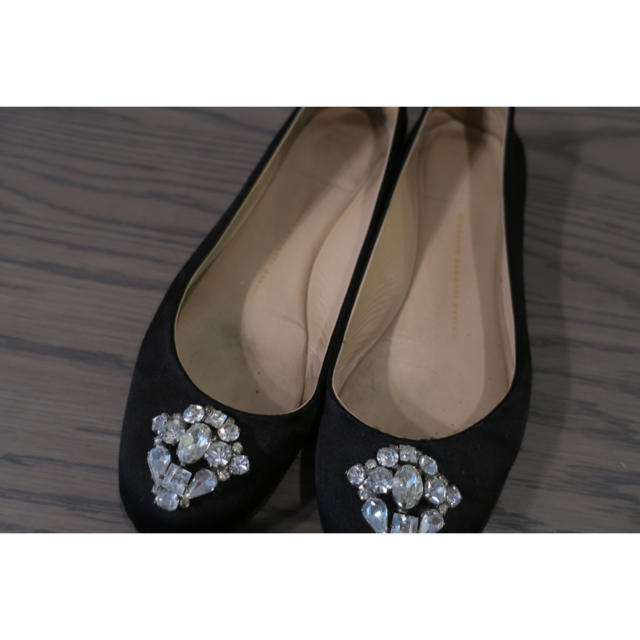 GIUZEPPE ZANOTTI(ジュゼッペザノッティ)のジュゼッペザノッティ☆ビジューフラット黒 レディースの靴/シューズ(バレエシューズ)の商品写真