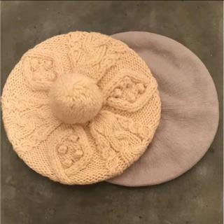 ムジルシリョウヒン(MUJI (無印良品))の無地 ベレー帽 2点set(ハンチング/ベレー帽)