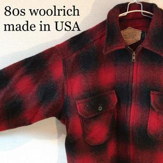 ウールリッチ(WOOLRICH)の80s USA ビンテージ ジャケット WOOL RICH ヘビーネルシャツ(ブルゾン)