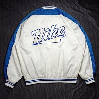 NIKE - NIKE ナイキ ナイロンジャケット スタジャン 90s デカロゴ