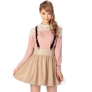 リズリサ(LIZ LISA)のLIZ LISA☆新品♪Tralala*後ろリボン*サス付オーガンジースカート(ミニスカート)