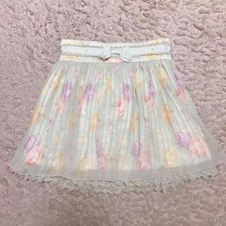 リズリサ(LIZ LISA)のLIZLISA ♡ 花柄プリーツミニスカート(ミニスカート)