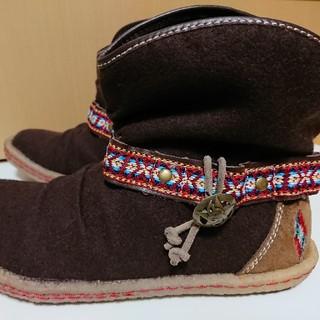 インディアン(Indian)の超美品☆Indian(インディアン)ショートブーツ☆23cm☆ブラウン(茶色)(ブーツ)