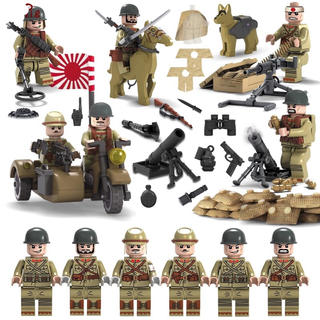 LEGO互換品 日本軍 日本兵&装備セット☆(ミリタリー)