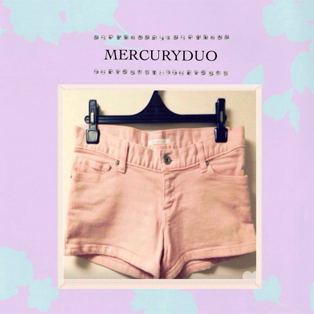 MERCURYDUO(マーキュリーデュオ)のMERCURYDUO♡ピンクショーパン レディースのパンツ(ショートパンツ)の商品写真
