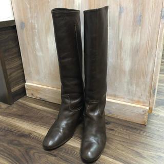 ショセ(chausser)のショセ chausser  レザー ロングブーツ 23.5cm (ブーツ)