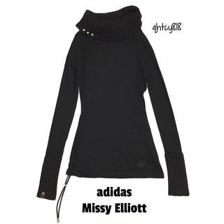 アディダス(adidas)の【美品】adidas×Missy Elliottアンゴラウールコットンニット34(ニット/セーター)