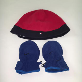 ナイキ(NIKE)のトミーヒルフィガー フリース帽子、ナイキ 手袋(手袋)