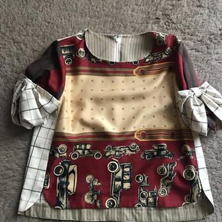ドールアップウップス(doll up oops)のチェック&スカーフ柄 トップス(カットソー(半袖/袖なし))