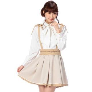 リズリサ(LIZ LISA)のLIZ LISA☆新品♪Tralala*肩リボン2wayシフォン重ねスカート(ひざ丈スカート)