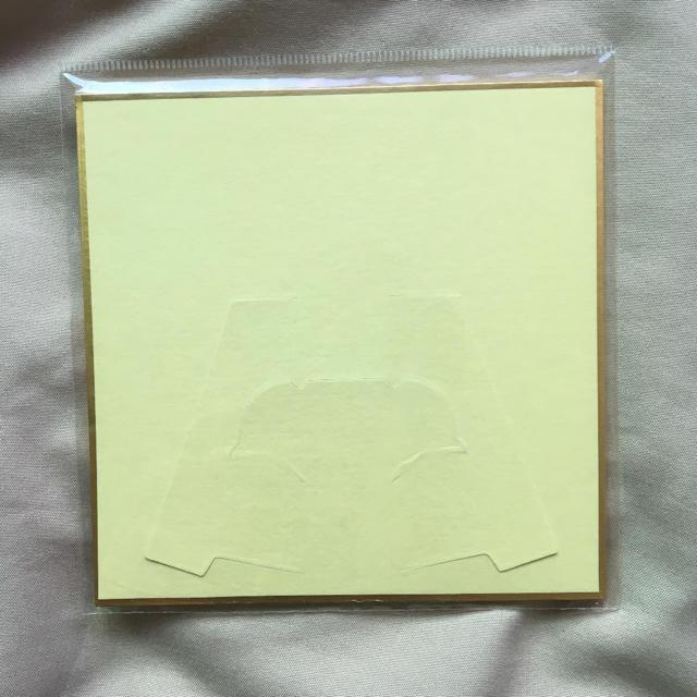 SEGA(セガ)の夢色キャスト 色紙:源氏  白椋れい(ジェネシス) エンタメ/ホビーのおもちゃ/ぬいぐるみ(キャラクターグッズ)の商品写真