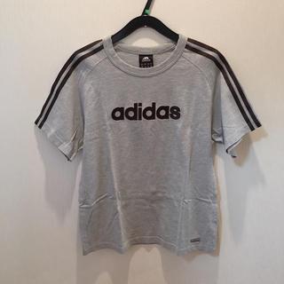 アディダス(adidas)のadidas アディダス Tシャツ グレー×ブラウン(Tシャツ/カットソー(半袖/袖なし))