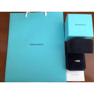 ティファニー(Tiffany & Co.)のティファニー ダイヤ Tワイヤーリング 値下げ中(リング(指輪))
