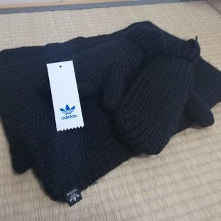 アディダス(adidas)のアディダス レディース スカーフ(マフラー)手袋 ay9041 黒(マフラー/ショール)