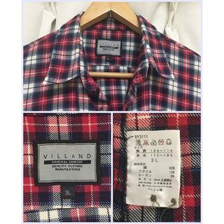 シマムラ(しまむら)のシャツ used④ 赤白黒チェック XL しまむら発(シャツ)