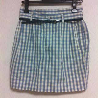 ローリーズファーム(LOWRYS FARM)のギンガムチェックコクーンスカート(ミニスカート)