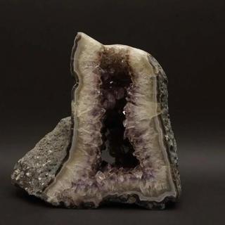 アメジストドーム 紫水晶 原石 パワーストーン 重量12.6kg 高さ31cm (彫刻/オブジェ)