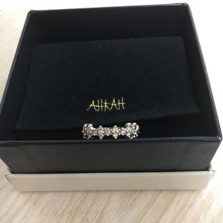 アーカー(AHKAH)の♡AHKAH♡マドンナリング ホワイトゴールドk18(リング(指輪))