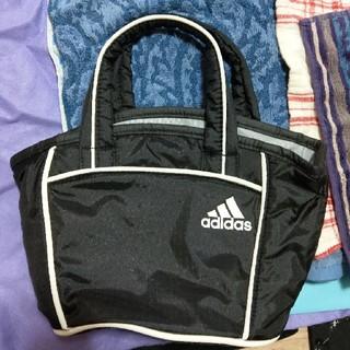 アディダス(adidas)のアディダス トートバッグ ハンドバッグ ナイロン 黒 ブラック(ハンドバッグ)