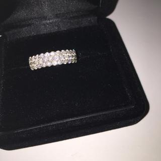 pt900 ホワイトダイヤモンド 計 1.00ct パヴェリング(リング(指輪))