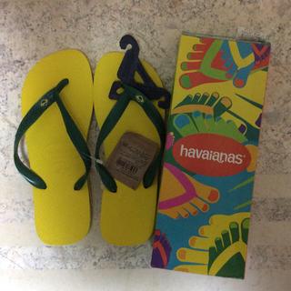 ハワイアナス(havaianas)のハワイアナス ブラジル 箱あり 未使用 24 〜24・5  37/38 イエロー(ビーチサンダル)
