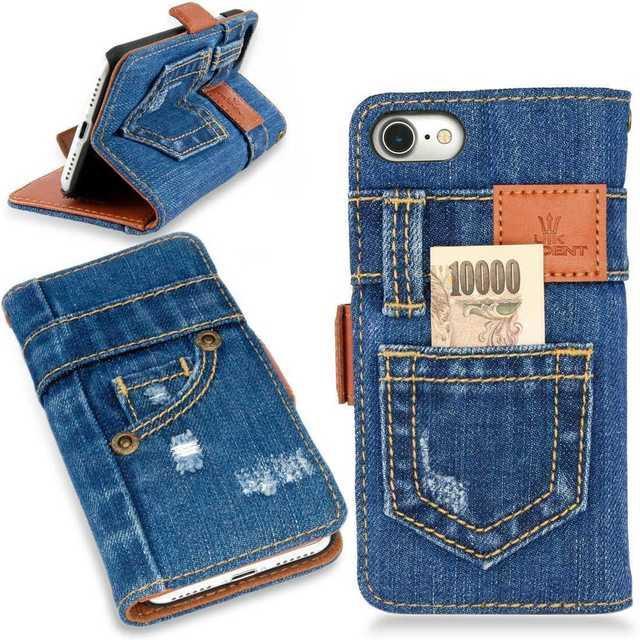 モスキーノ iPhone7 plus ケース 手帳型 | ◆本格デニム◆iPhoneケース デニム手帳型の通販 by れん's shop|ラクマ