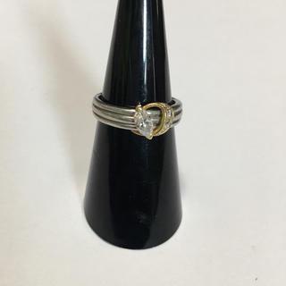 PT900  750 ダイヤモンドリング 指輪 ダイヤ刻印有り 11号(リング(指輪))