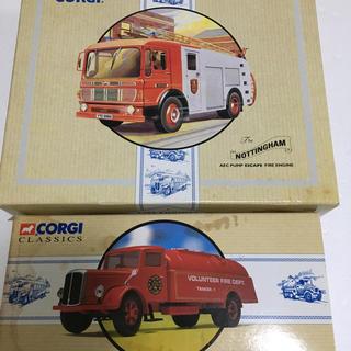 コーギ(CORGI)のコーギー corgi 消防車 2台セット(ミニカー)