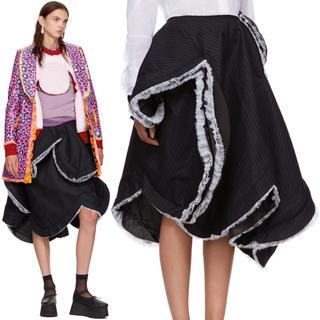 コムデギャルソン(COMME des GARCONS)の定価23万 2018aw コムデギャルソン ストライプ 立体スカート(ロングスカート)