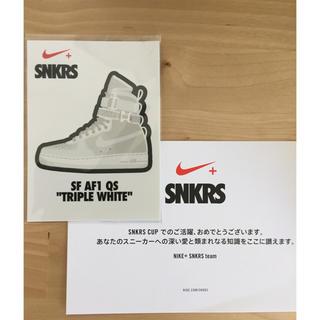 ナイキ(NIKE)の込み レア Nike SNKRS ステッカー(ノベルティグッズ)