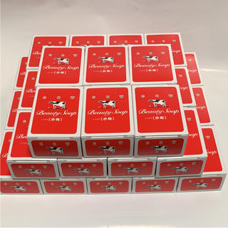 ギュウニュウセッケン(牛乳石鹸)の牛乳石鹸 カウブランド  赤箱 100g✖️33個 セット(ボディソープ / 石鹸)