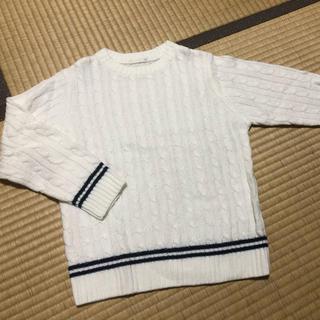 ジーユー(GU)の美品 編み上げセーター ニット 男の子 110 120 130 トップス(ニット)