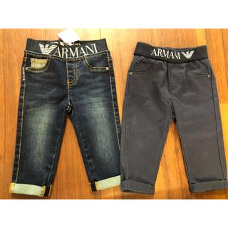 アルマーニ ジュニア(ARMANI JUNIOR)のARMANI baby新品未使用デニム6Mウエストゴム(パンツ)