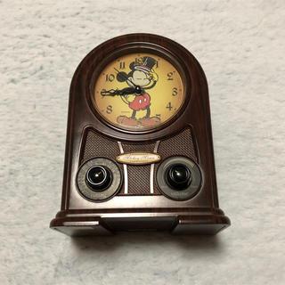 ディズニー(Disney)のラジオ付き ミッキーマウス置き時計(置時計)