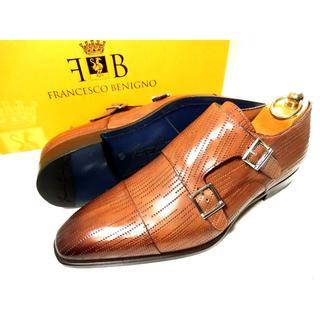 ステファノブランキーニ(STEFANO BRANCHINI)の♂【新品】フランチェスコベニーニョ 革靴 ダブルモンク61/2 25.5cm 茶(ドレス/ビジネス)