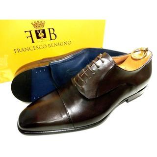 ステファノブランキーニ(STEFANO BRANCHINI)の♂【新品】フランチェスコベニーニョ 71/2 26.5 革靴 焦げ茶(ドレス/ビジネス)