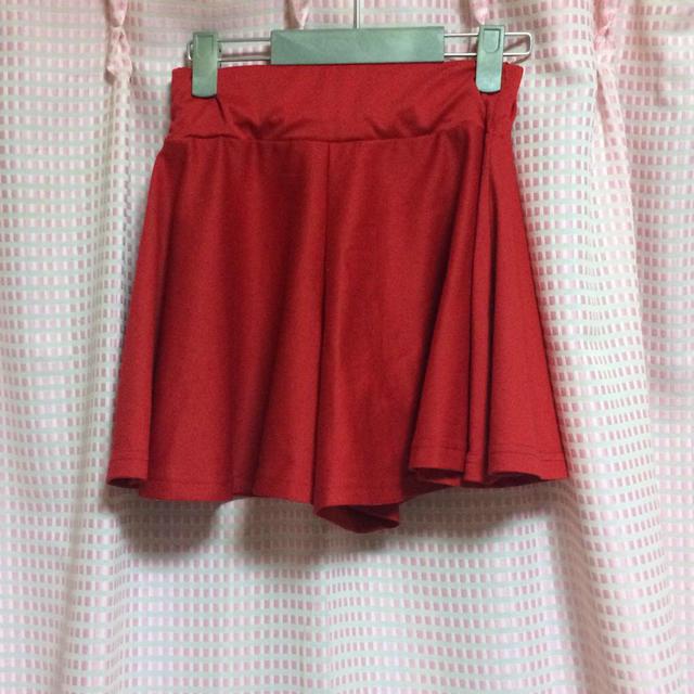 GRL(グレイル)の赤のキュロットパンツ レディースのパンツ(キュロット)の商品写真