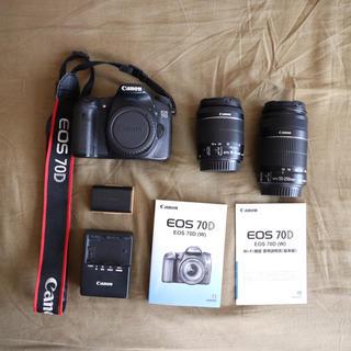Canon EOS 70D レンズセット(デジタル一眼)
