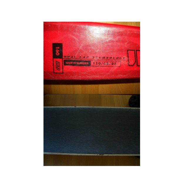 Elan(エラン)のELANスキー板160赤*SALOMONスキーバッグ黒*ビンディング*ストック スポーツ/アウトドアのスキー(板)の商品写真
