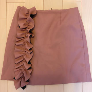 キッカザダイアリーオブ(KIKKA THE DIARY OF)のKIKKA フリル付き巻きスカート(ミニスカート)