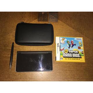 ニンテンドーDS(ニンテンドーDS)のNintendo DSi LL 本体+ ケース + タッチペン +ソフト(携帯用ゲーム本体)