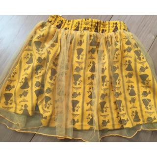ディズニー(Disney)の新品未使用!美女と野獣 ベル柄 スカート(スカート)