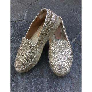 グレースコンチネンタル(GRACE CONTINENTAL)のグレースコンチネンタル エスパリドリーユ 靴 ゴールド(サンダル)