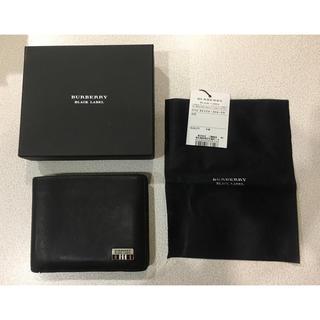 バーバリーブラックレーベル(BURBERRY BLACK LABEL)のバーバリー ブラックレーベル  二つ折り財布(黒・赤)(折り財布)